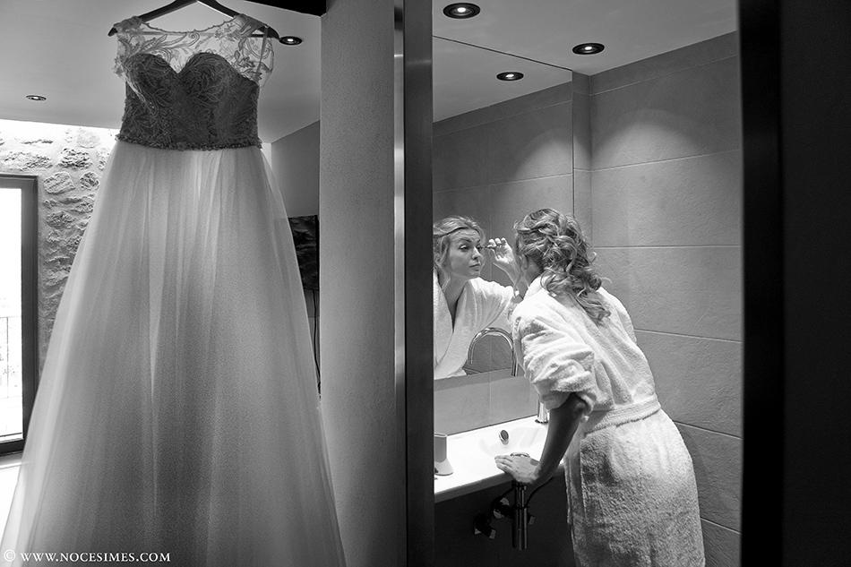 novia maquillaje boda en el mas oliveres