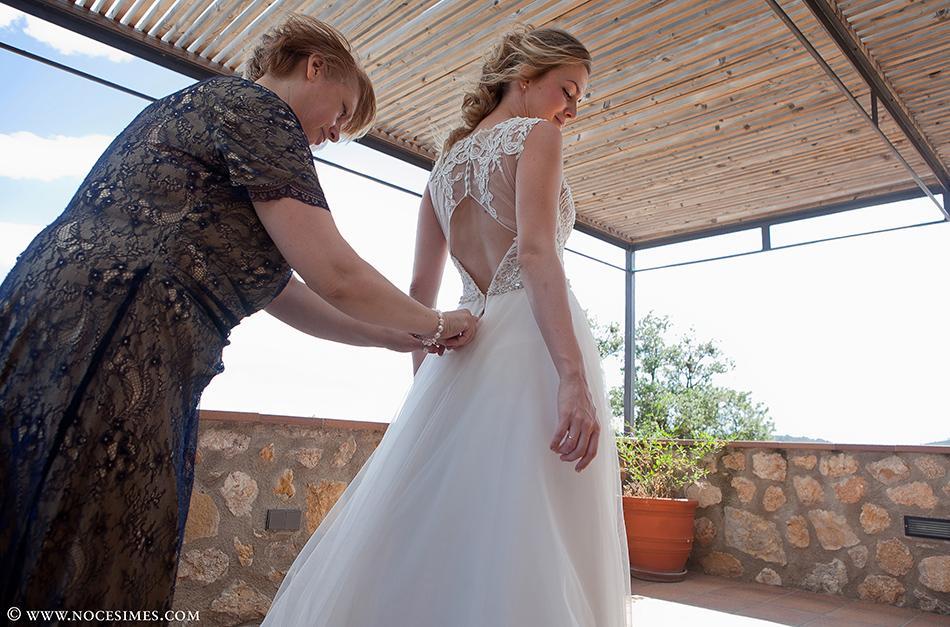 vestido boda en el mas oliveres