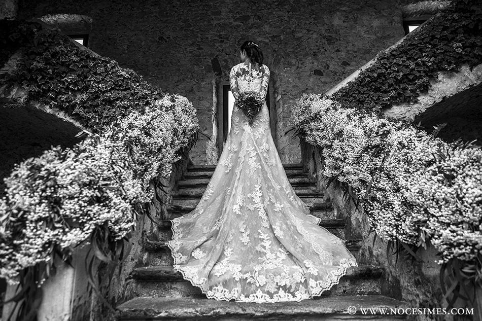 fotografo novia vestido bodas el far llafranc