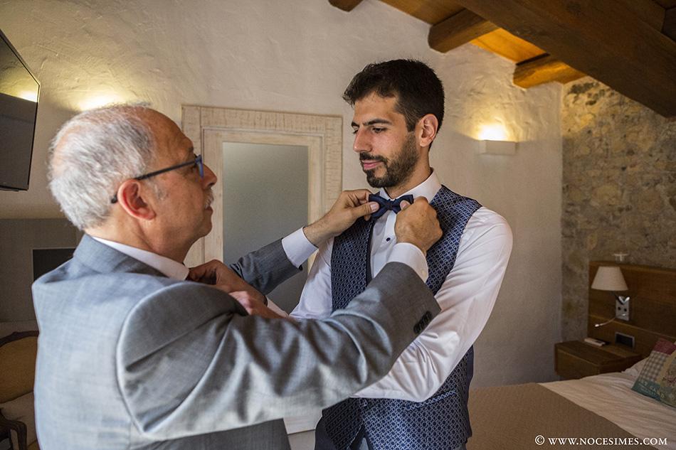 novio y padre reportaje de boda
