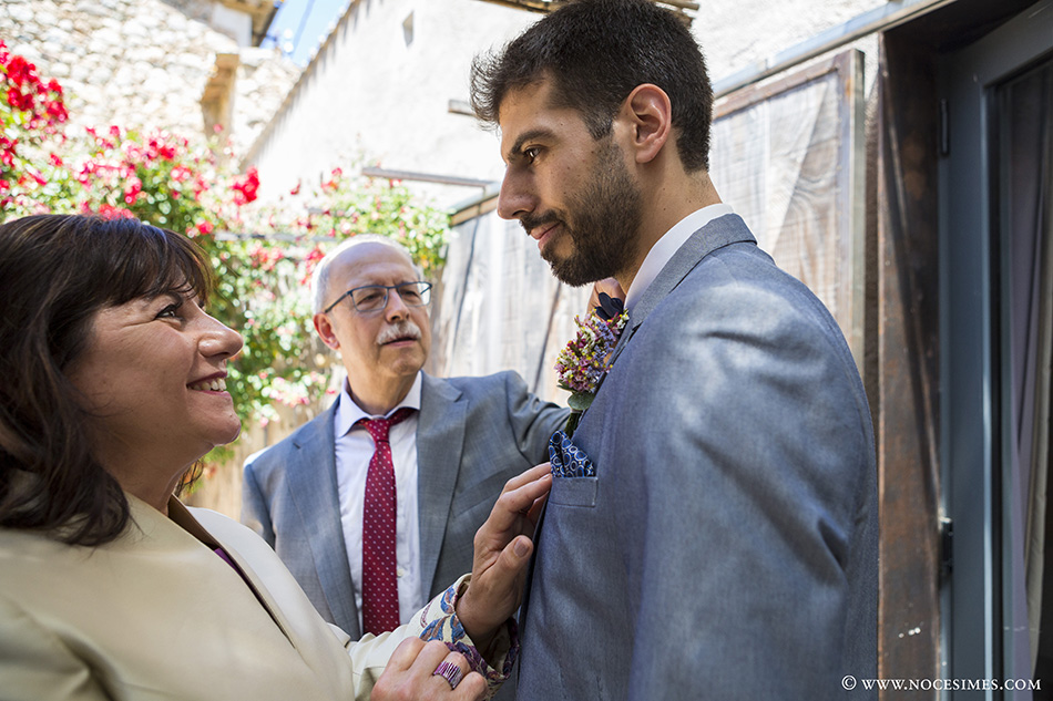 Madre emocionada novio fotografia de boda