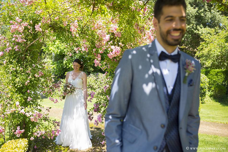 First look en el Mas Carreras boda girona