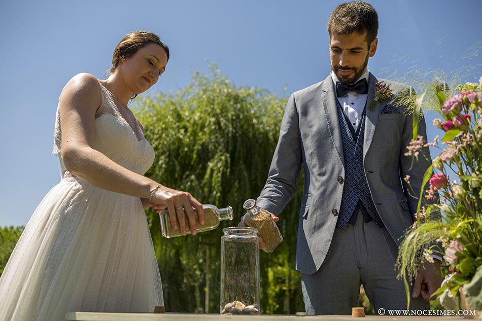 Ceremonia de la arena fotografo bodas Girona