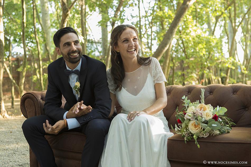 els nuvis a la cerimonia fotograf boda cortal gran
