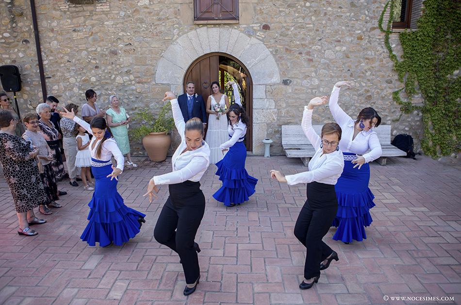 exhibicio de ball flamenc per la nuvia