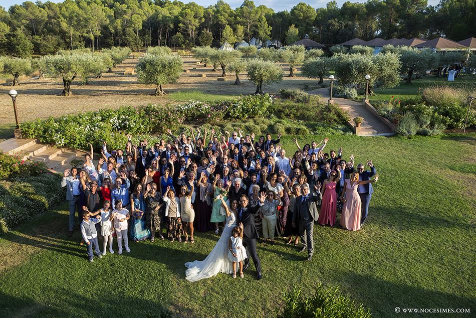 tots els convidats del casament al Mas Terrats