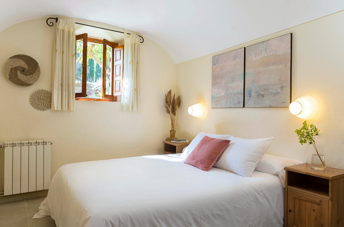 dormitori a la casa de turisme rural can bonet de Sant Martí Vell