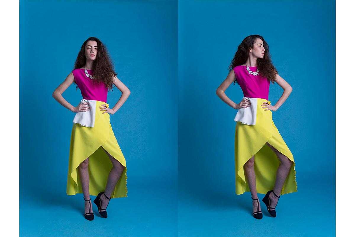 sessio de moda per disenyadora