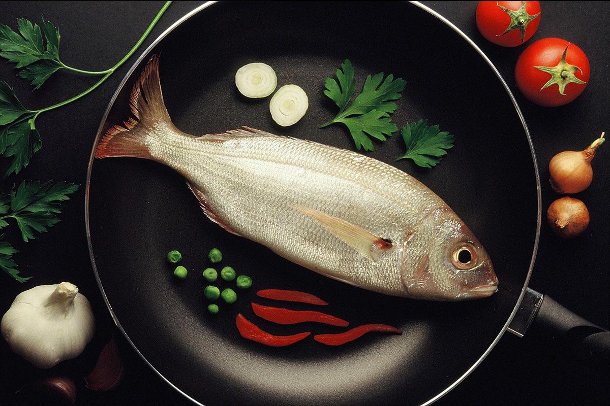 fotografia de gastronomia d´un peix artísitica