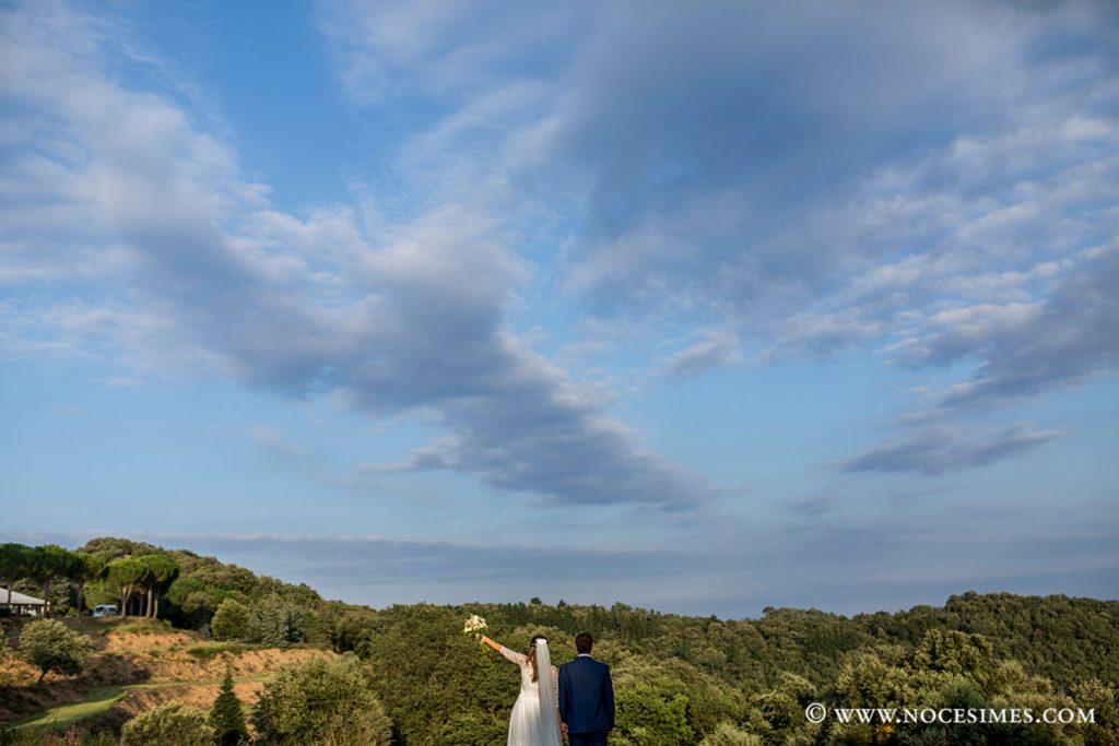Parella de nuvis a Mas Can Ferrer