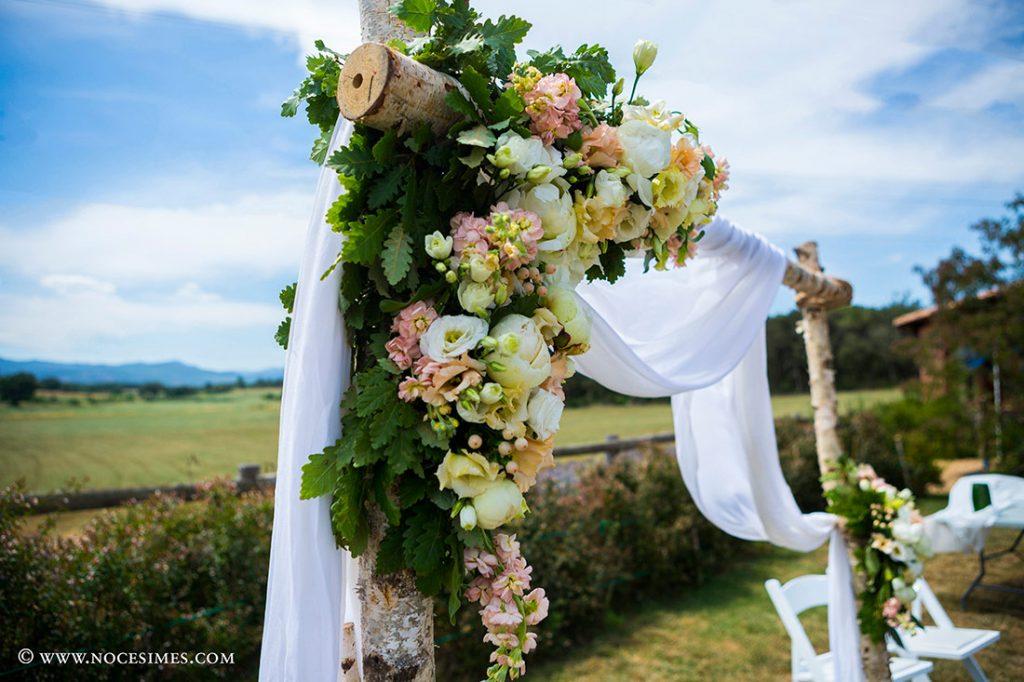 detall floral de la cerimonia